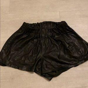 Rag and Bone Leather Shorts